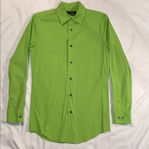 Lime Green Button Down Dress Shirt